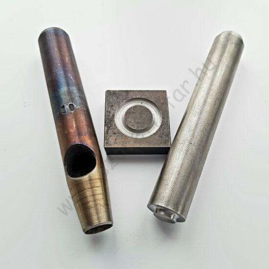 Profi ringliző készlet (lyukasztó, tőke, beütő) - 8mm