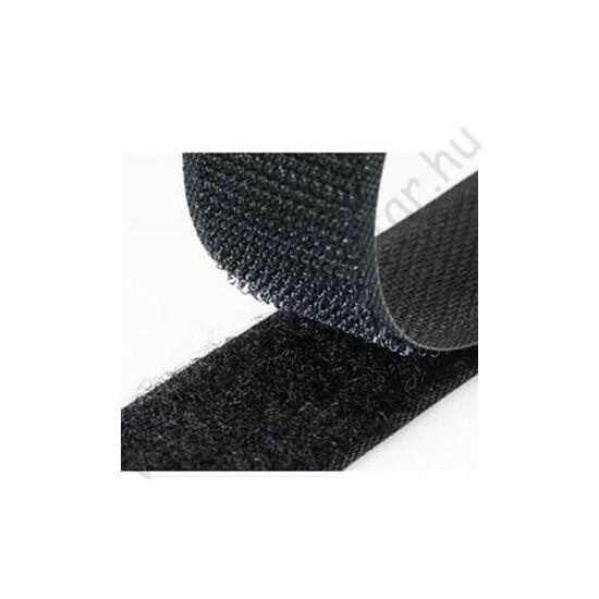 Fekete/fehér tépőzár 20mm -  tekercsben (25m)